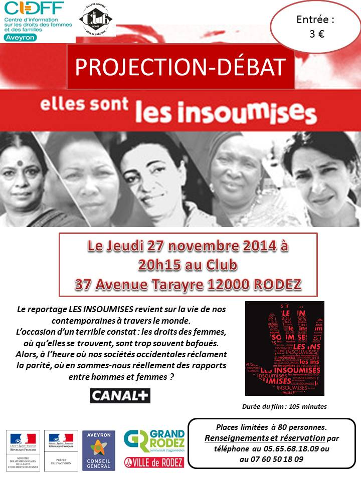 affiches projection film-debat  les insoumises nov 2014 jpeg