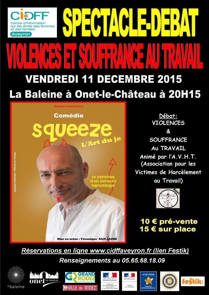 Affiche spectacle debat violences et souffrance au travail 11 dec 2015 CIDFF 12 jpeg